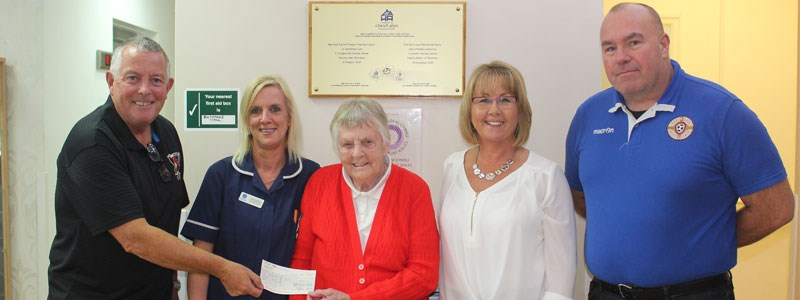 Albion and Druids Friendly raises £540 for Local Residential Home