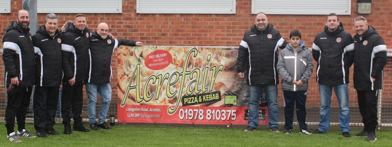 Acrefair Pizza and Kebab Continue to support the Albion
