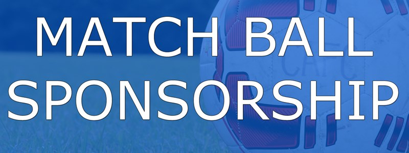 Available match day ball sponsorship for just £25
