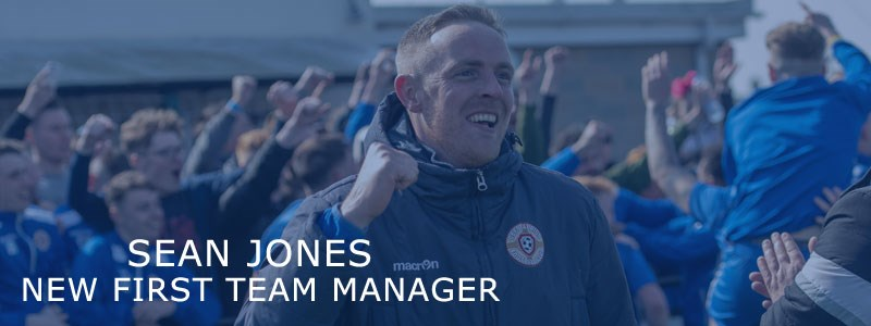 Sean Jones appointed as First team manager